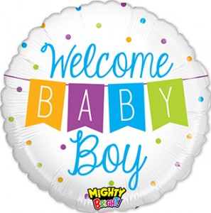 Mighty Bright Baby Boy Banner balloon by Betallic.