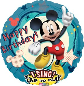 Happy Birthday Mickey Mouse Singing Balloon 28 in P