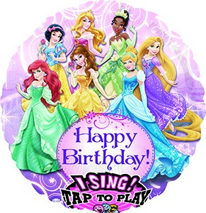 Happy Birthday Princesses Singing Balloon 28 in P