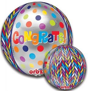 Orbz Dotty Geometric Congrats 16 in P
