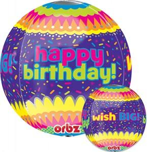 Happy Birthday Confetti Orbz 16 in P