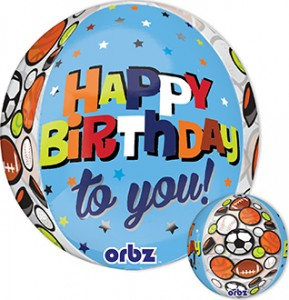 HBD to You Sports Orbz 16 in P