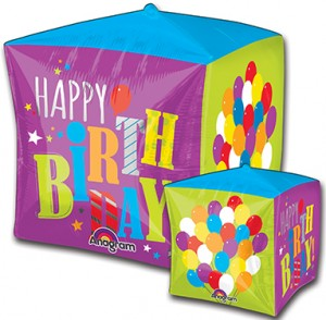Cubez Birthday Balloons 15 in P