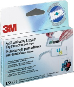 SELF-LAMINATING LUGGAGE TAG PROTECTORS - 5 PK