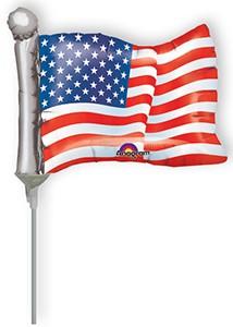 American Flag Shape Pre-Inflates 20/pk