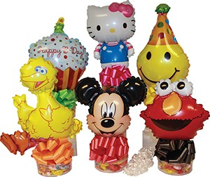 Assorted Candyloons with Mini Shape Balloons 10/pk