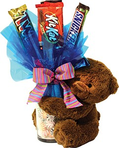 """7"""" Bear with 9"""" Candle Vase"""