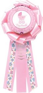 """9"""" Baby Girl Balloon Bow"""