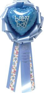 """9"""" Baby Boy Balloon Bow"""