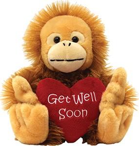 """10"""" Get Well Soon Monkey"""