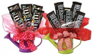 Assorted Watering Can Candy Bar Bouquet