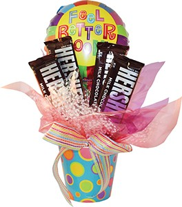 Assorted Flower Pot Candy Bar Bouquet