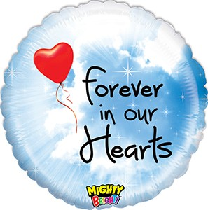 Mighty Bright Forever in Our Hearts balloon by Betallic.