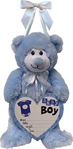"14"" Baby Boy Announcement Bear"