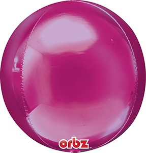 Orbz Bright Pink balloon by Anagram.