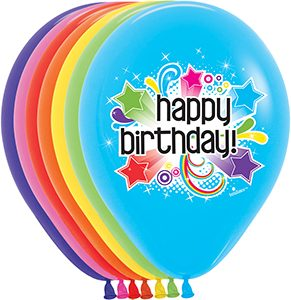 """11"""" 7-Color Single-Sided Printed Latex Balloons"""