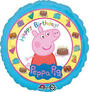 Peppa Pig Happy Birthday Standard size helium balloon by Anagram