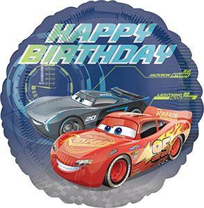 Cars 3 Birthday Standard size helium balloon by Anagram