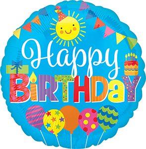 Happy Birthday Kid Party Standard size helium balloon by Anagram International