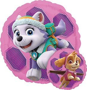 Paw Patrol Skye and Everest Standard size helium balloon by Anagram
