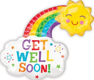 Get Well Happy Rainbow 30 inch helium shape by Anagram International