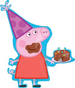 Peppa Pig Happy Birthday 33 inches helium shape by Anagram