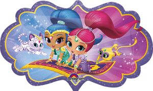 Shimmer and Shine 27 inch helium shape by Anagram