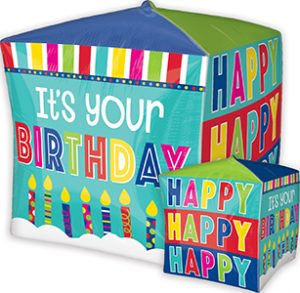 It's Your Birthday Cubez 15 in helium shape by Anagram International