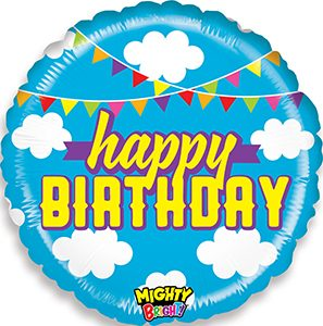 Mighty Bright Birthday Clouds balloon by Betallic.