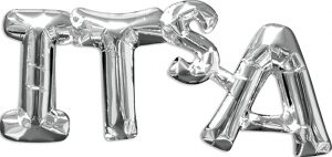 Its A Consumer Inflated Phrase balloon in silver by Anagram.