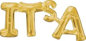 Its A Consumer Inflated Phrase balloon in gold by Anagram.