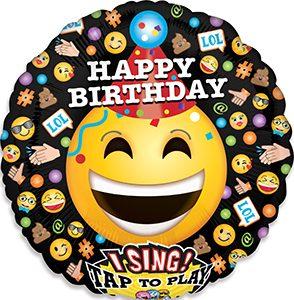 LOL Emoticon Birthday Singing Balloon by Anagram.