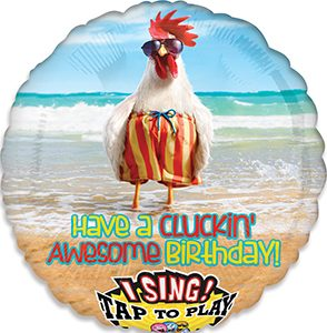 Avanti Chicken Dance Happy Birthday Singing Balloon by Anagram.