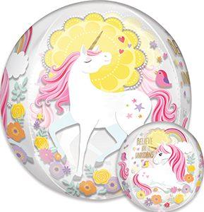 Magical Unicorn Orbz balloon by Anagram.